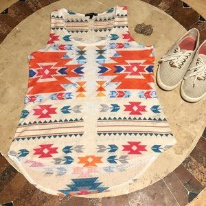 CUTE Aztec sleeveless top